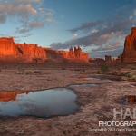 Taking Panoramic Photos as Courthouse Towers, Arches National Park