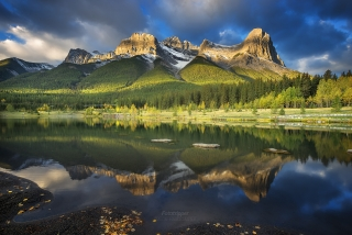 Ha Ling Peak, Canmore Alberta during Canaidna Rockies Photography Workshop