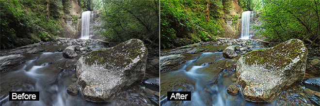 Free Photoshop Actions - Before and After
