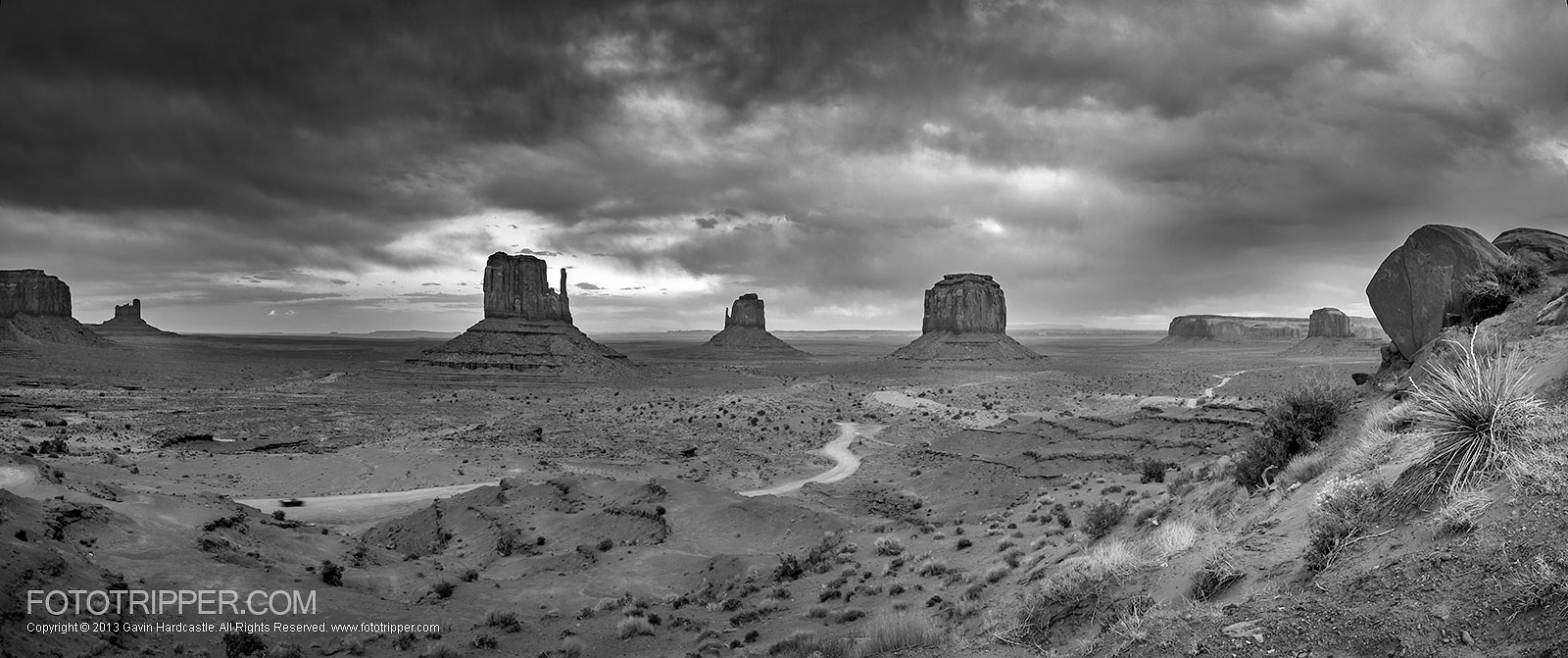 Photoshop tutorial how to make dramatic black white landscapes