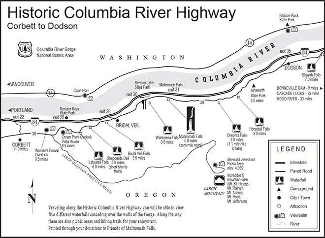 Columbia River Gorge PDF Map.