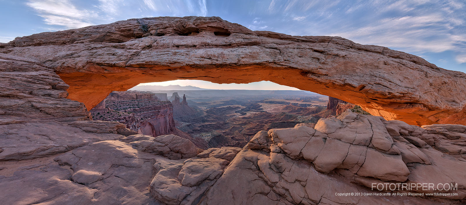 Mesa Arch Photo Guide, Panaroma