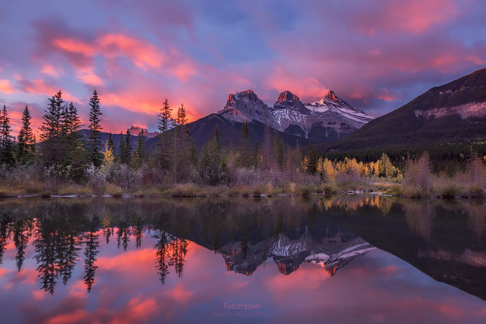 Photography workshops in Banff - Sisters on Fire