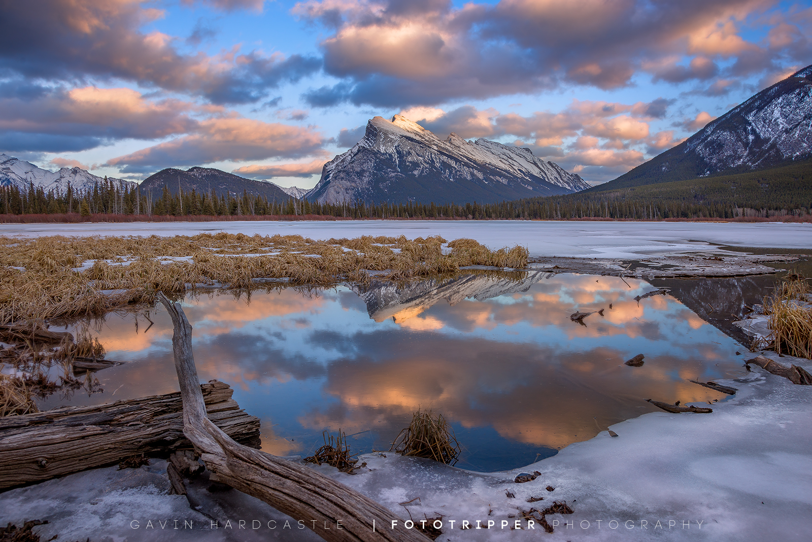 Mt Rundle at Sunset - Banff Photography Workshop