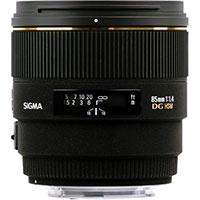Sigma 85mm 1.4 lens