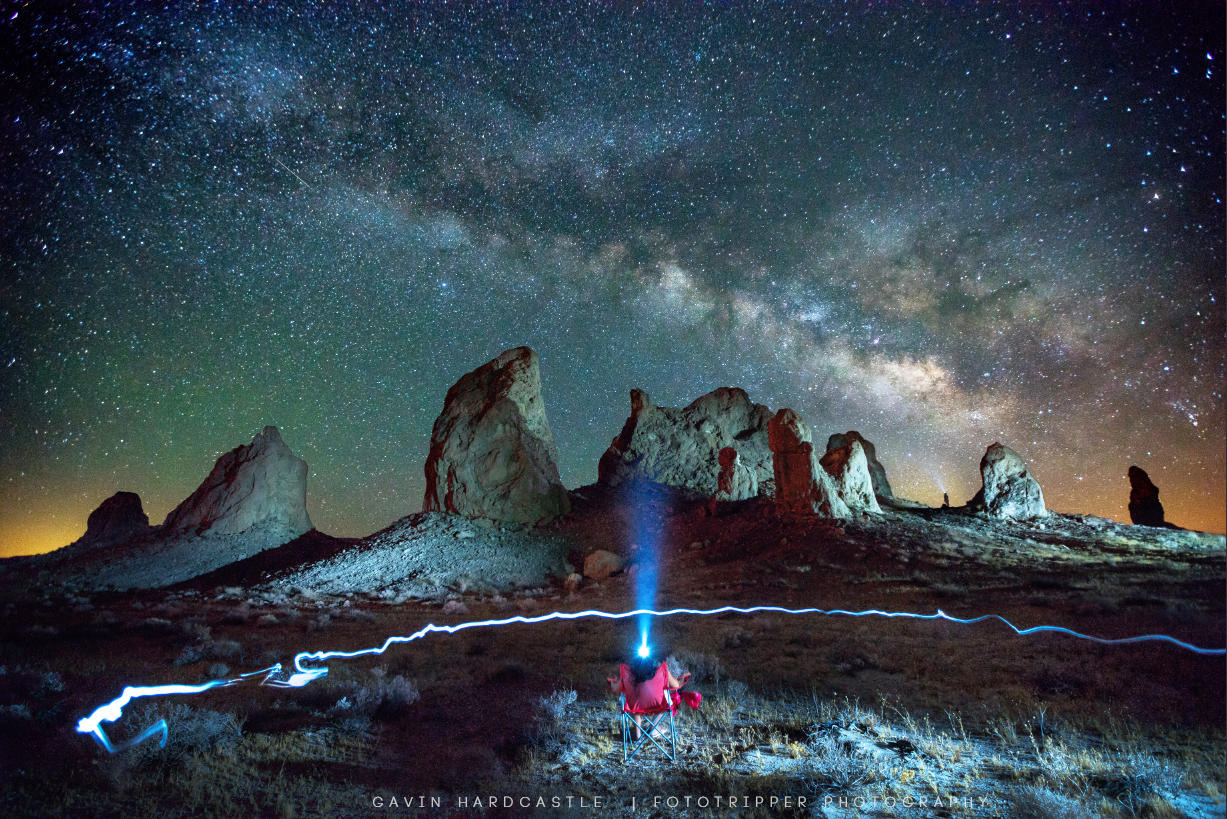 Astrophotography at the Trona Pinnacles