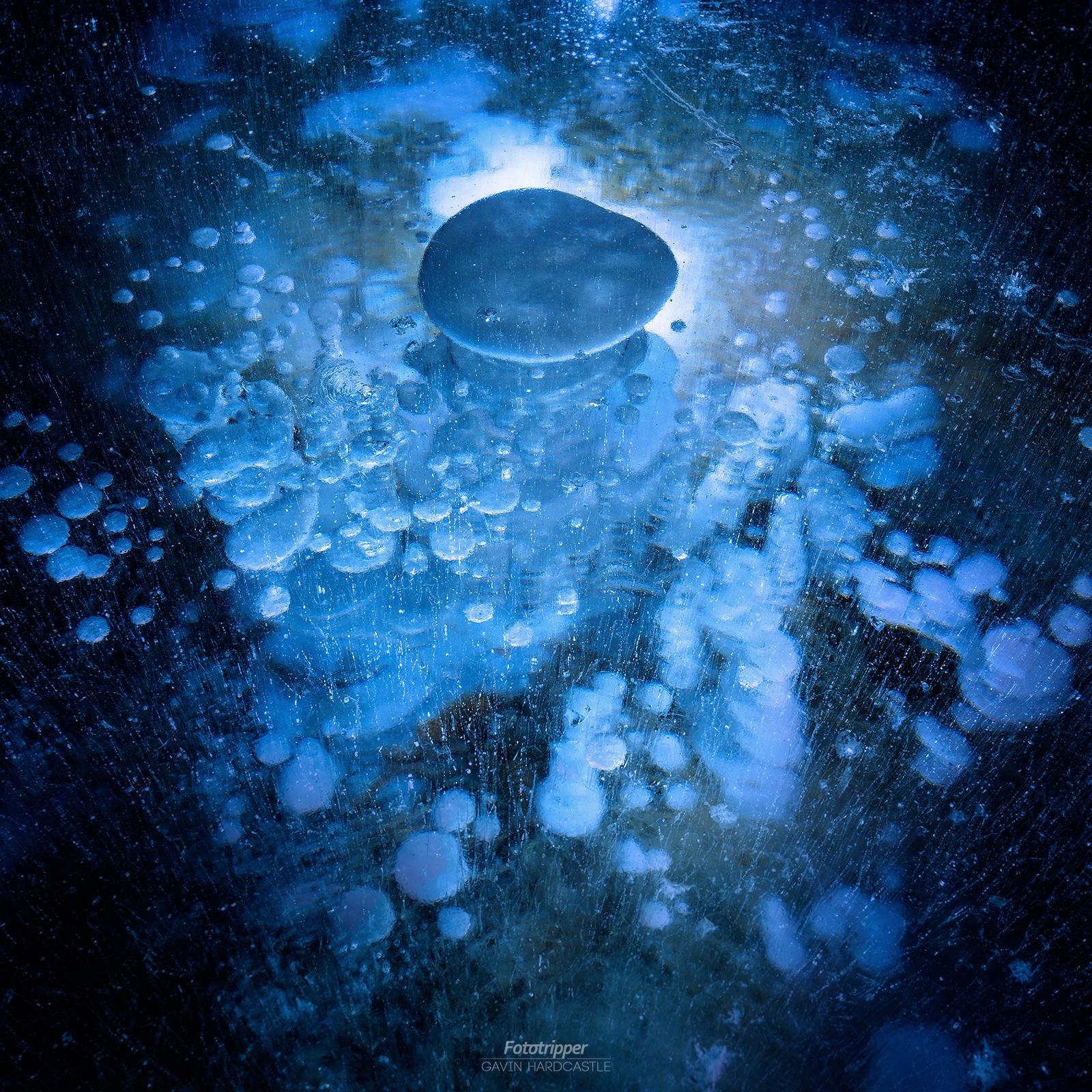 Ice Bubbles at Abraham Lake
