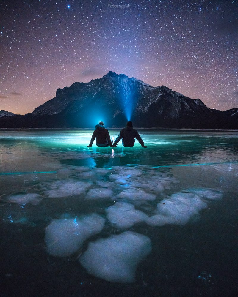 'Facing the Infinite' - Abraham Lake, Alberta