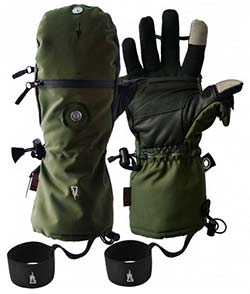 Photography gloves for Abraham Lake