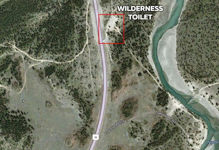 Wilderness Toilet at Abraham Lake