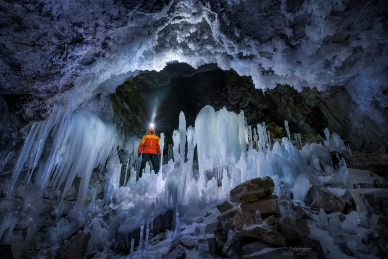 The light in the dark, ice cave