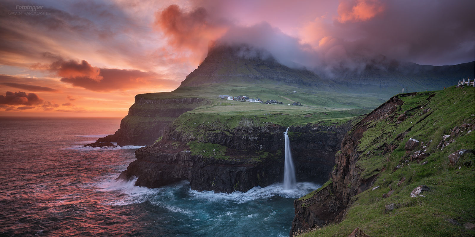 Mullafossar Waterfall - Faroe Islands Photo Tour