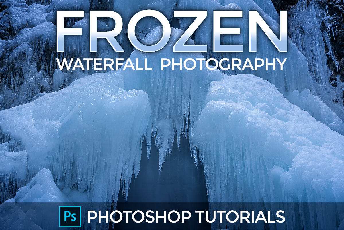 Frozen Waterfall Photoshop Tutorials