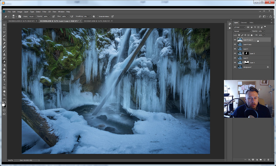 Karst Creek Falls - Photoshop Video Tutorial