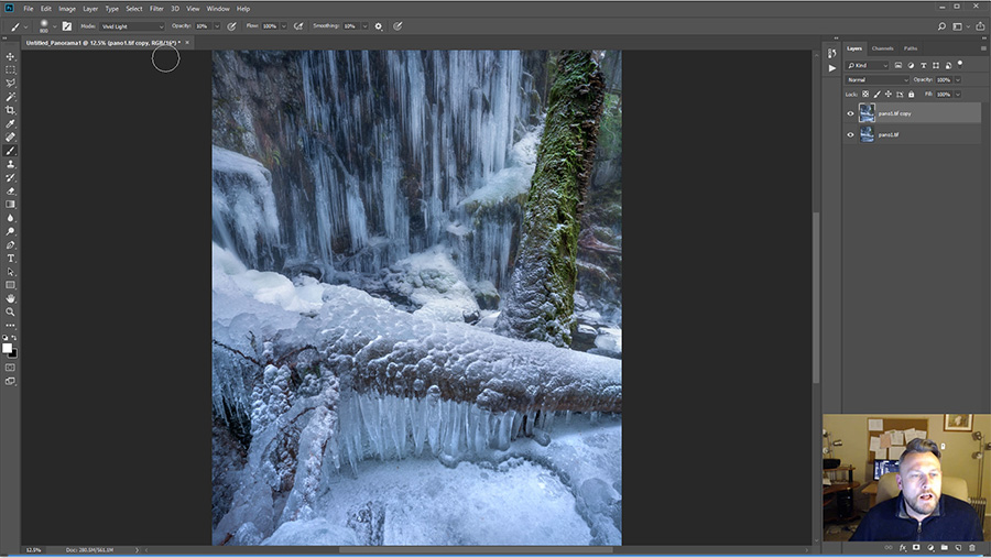 Frozen Waterfall Photoshop Tutorial
